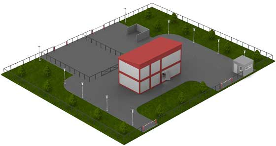 Архитектурно-планировочное решение модульного мясного цеха КОЛАКС